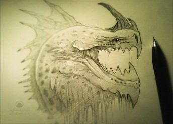 Matthias Derenbach #Illustration - dragonhead/sketch