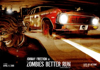 Matthias Derenbach #Illustration - better run little zombie