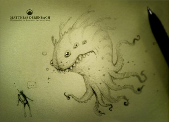 Matthias Derenbach #Illustration - ugly sea monster