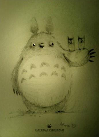 Matthias Derenbach #Illustration - Totoro/sketch