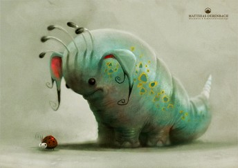 "Matthias Derenbach #Illustration - bugeater ""Tutu"""