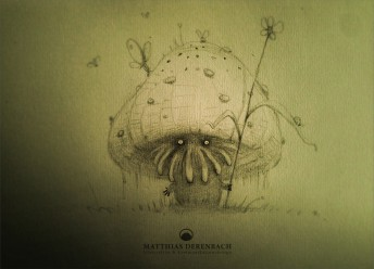 Matthias Derenbach #Illustration - little forrest god/sketch