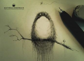 Matthias Derenbach #Illustration - very angry bird