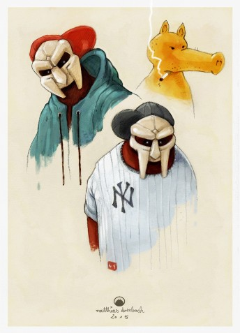 Matthias Derenbach #Illustration - MFDOOM/sketch