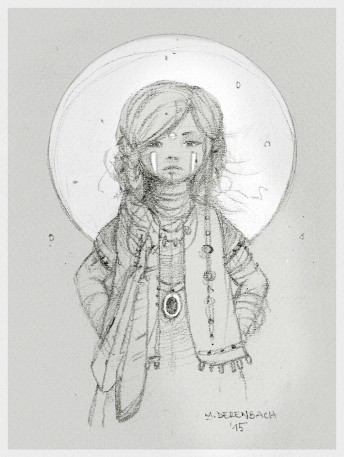 Matthias Derenbach #Illustration - indian girl/sketch