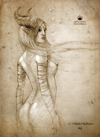 Matthias Derenbach #Illustration - maleficent/sketch