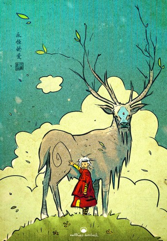 Matthias Derenbach #Illustration - deer