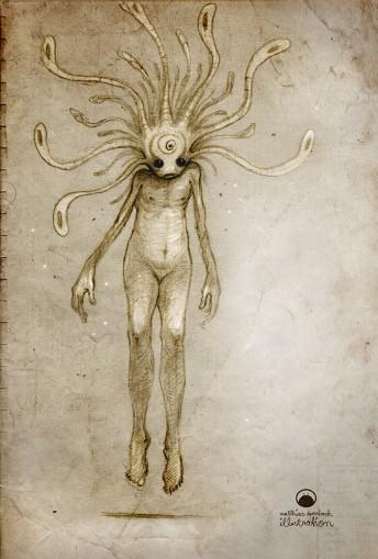 Matthias Derenbach #Illustration - alien/sketch