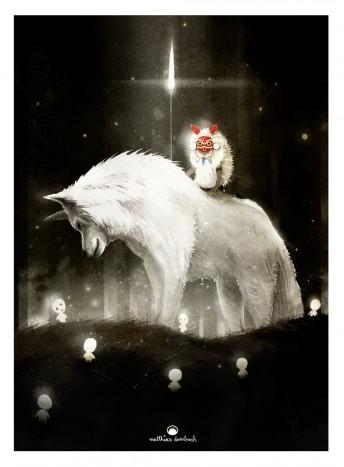 Matthias Derenbach #Illustration - Prinzess Mononoke Fanart