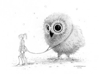 Matthias Derenbach #Illustration - owl