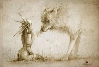 Matthias Derenbach #Illustration - old friends/sketch
